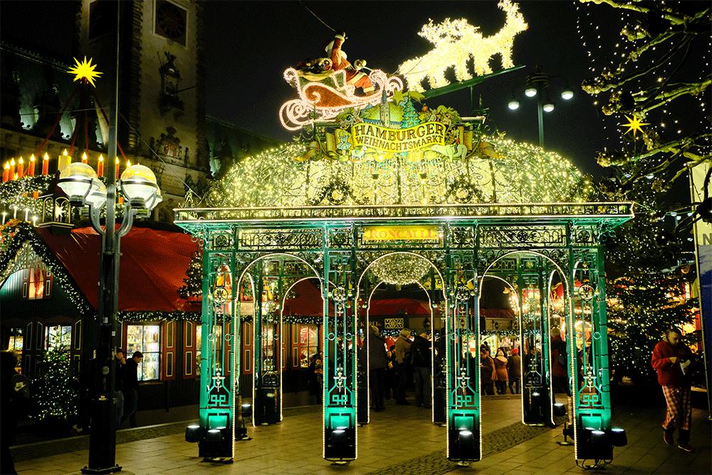 Hamburger Weihnachtsmarkt.Hamburger Weihnachtsmarkt